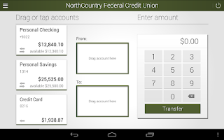 Screenshot of NorthCountry Mobile Banking