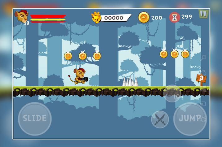 Lion Subway Guard Games Screenshot