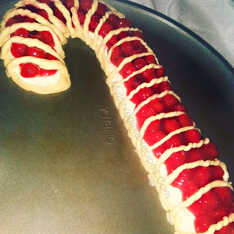 Candy Cane Cheese Danish!
