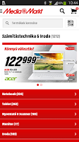 Screenshot of Media Markt Hungary