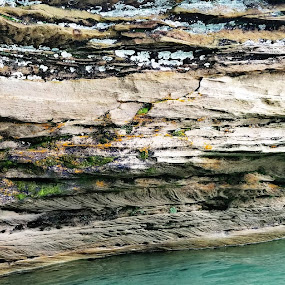Turnip waters. by Chelsea Mason - Landscapes Caves & Formations ( rock, beautiful, michigan, turquoise, water )