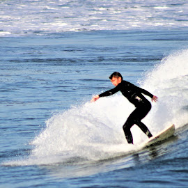 Surf and Sea by Leah Zisserson - Sports & Fitness Surfing ( narragansett, surfing, blue, rhode island, ocean )