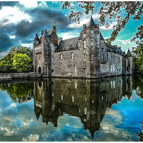 Trecesson by Pascal Aunai - Travel Locations Landmarks ( pwclandmarks, bretagne, trecesson, castle, chateau, tourisme, morbihan, britain, garyfonglandscapes, holiday photo contest, photocontest )