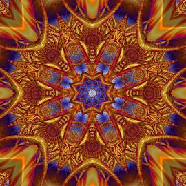 Fractal kaleidoscope, mandala 7 by Cassy 67 - Illustration Abstract & Patterns ( digital, love, harmony, art, abstract art, mandala, abstract, fractals, digital art, kaleidoscope, modern, light, fractal, energy )