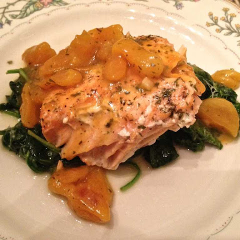 Apricot Ginger Glaze For Salmon