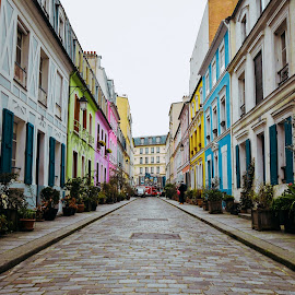 Paris en Couleur by Ally Skiba - Buildings & Architecture Homes ( adventure, rainbow, paris, urban, urban exploration, urban landscapes, cityscape, france, homes, neighborhood, colorful, french, technicolor )