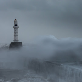 lighthouse by Jason Smith - Buildings & Architecture Other Exteriors ( wind, waves, lighthouse, ocean, storm,  )