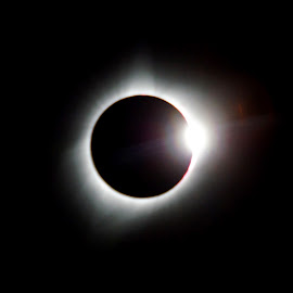 Solar Diamond Ring by Justin Giffin - Abstract Light Painting ( light painting, diamond ring, totality, solar eclipse,  )