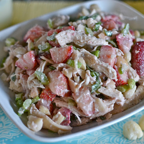 Strawberry & Macadamia Nut Chicken Salad
