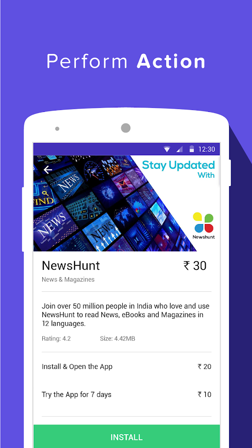 Grappr - Earn Talktime Rs.300 Screenshot 2