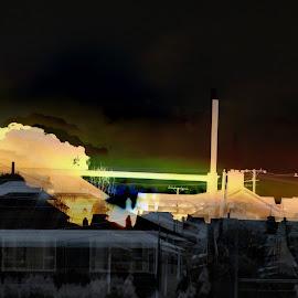 Bluff by Marion Metz - Digital Art Places ( sunset, beautiful, art, star, digital, colours, bluff )