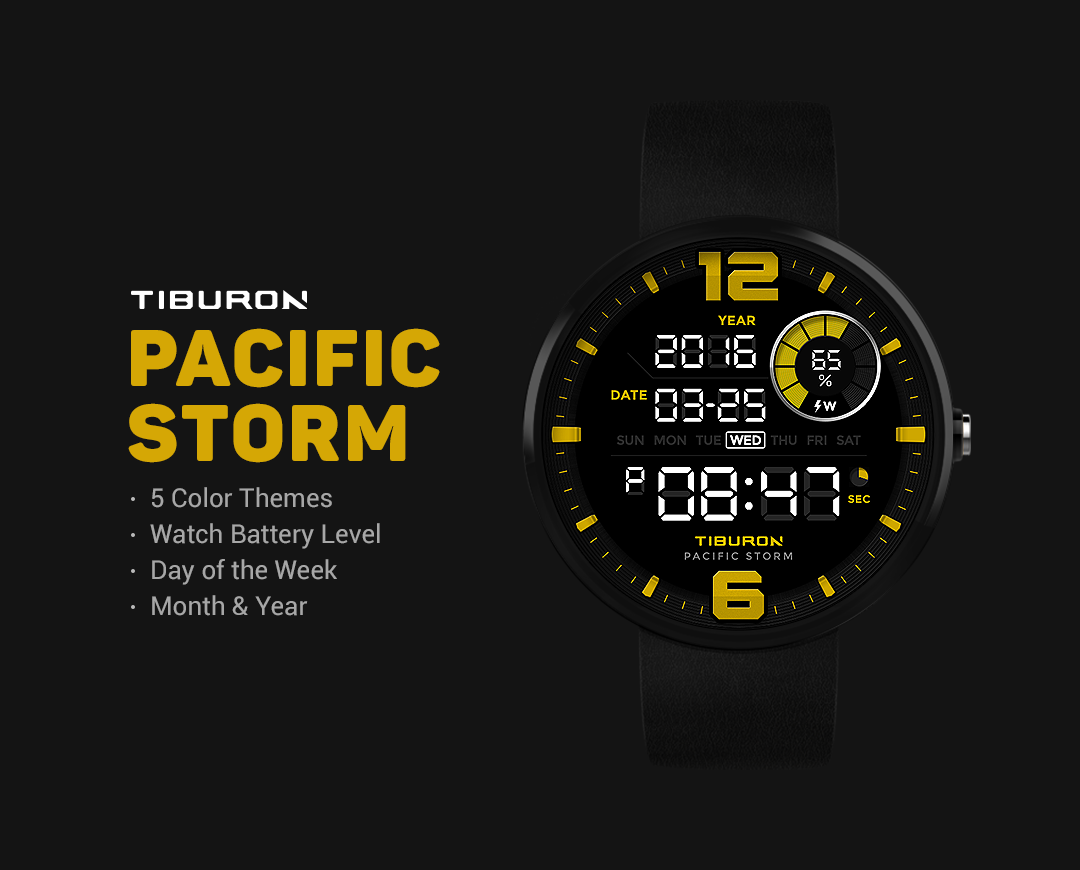 Pacific Storm watchface by Tib Screenshot 1