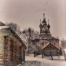 КУРБА by Марина Колесова - Buildings & Architecture Decaying & Abandoned ( церковь деревня зима )