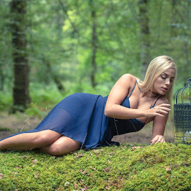 Beautiful with Bird cage by Sanil Photographys - People Fashion ( model, birdcage, sanilphotography, forest, newforest )