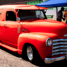 Orange Chevy by Dave Lipchen - Transportation Automobiles ( panel, orange, repair truck, truck, chevy )