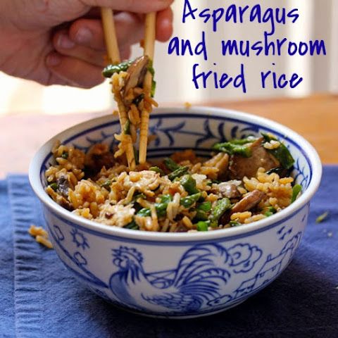 Asparagus And Mushroom Fried Rice