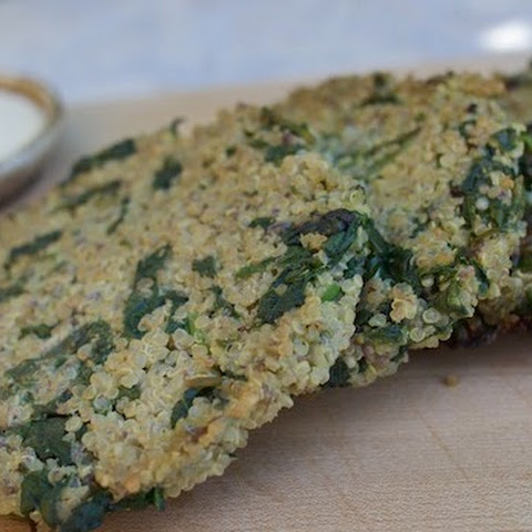 Powerhouse Spinach Quinoa Cakes with Dijon Yogurt Dipping Sauce