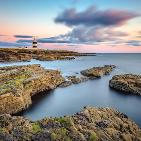 Hook Head by Ryszard Lomnicki - Landscapes Cloud Formations ( clouds, ireland, sunset, hook head, ocean, long exposure, longexposure, , #GARYFONGDRAMATICLIGHT, #WTFBOBDAVIS )