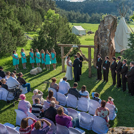 Outdoor Wedding by Jerry Cahill - Wedding Ceremony