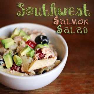Southwest Salmon Salad #RanchRemix