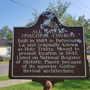 Built in 1885 in Patterson, La. and originally known as Holy Trinity. Moved to present location in 1942. Listed on the National Register of Historic Places because of its Gothic Revival ...