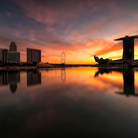 by Gordon Koh - City,  Street & Park  Vistas ( modern, clouds, urban, sony a7rii, reflection, building, park, modern city, movement, asia, cityscape, architecture, city park, singapore, city )