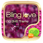 GO SMS PRO BLING LOVE THEME 1.0 Apk