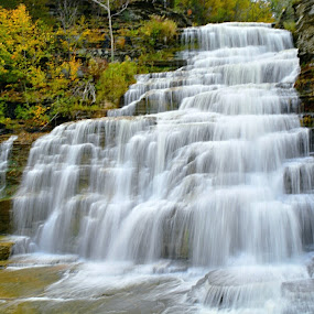 Hector Falls by Travis Houston - Landscapes Waterscapes