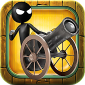 Stickman Cannon Ball Shooter