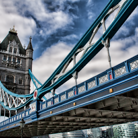 Tower bridge London by Gianluca Presto - Buildings & Architecture Bridges & Suspended Structures ( clouds, tower, sky, london, tower bridge, architectural detail, architecture, bridge, historic, united kingdom )