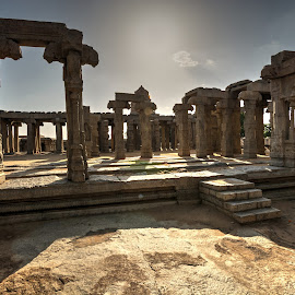 Lepakshi by Balasubrahmanya Bhat - Buildings & Architecture Statues & Monuments ( wide angle, stone, india, architecture, travel photography, pillars )