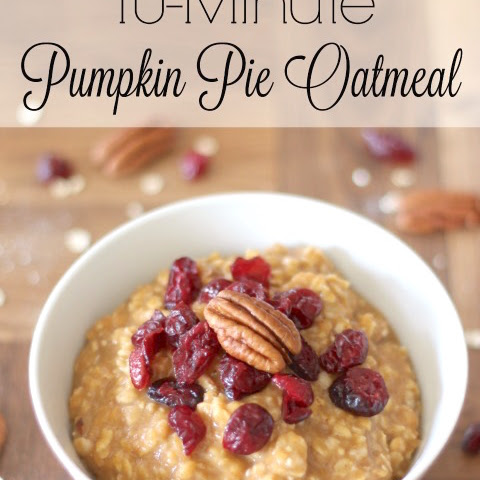 10-Minute Pumpkin Pie Oatmeal