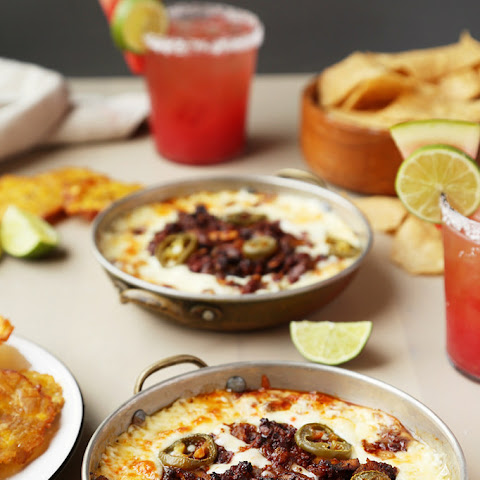 Mushroom and Chorizo Queso Fundido