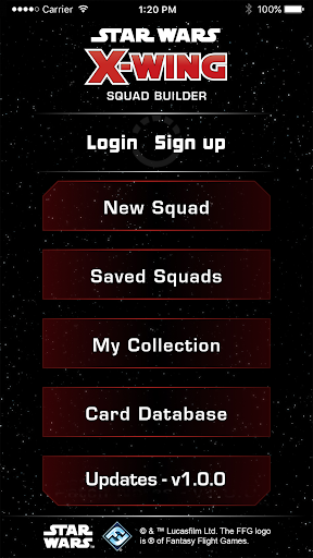 X-Wing Squad Builder by FFG For PC