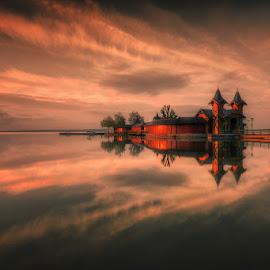 Reflection by Cvetka Zavernik - Buildings & Architecture Public & Historical ( color, reflection, bridge, building, morning )