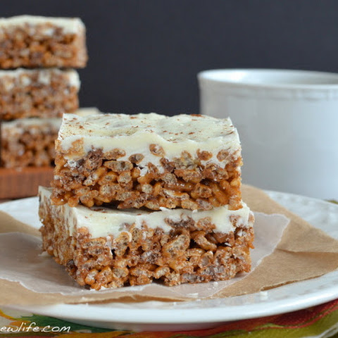 Pumpkin Spice Latte Krispie Treats