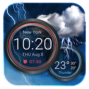 Weather Widget with Alarm Clock For PC