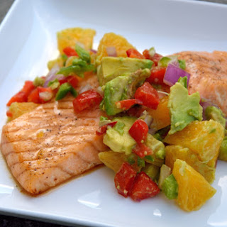 Maple Citrus Salmon with Orange-Avocado Salsa