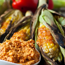 Grilled Corn on the Cob with Red Pepper Butter