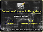 Selenium Courses in Bangalore with practicals and Live Projects