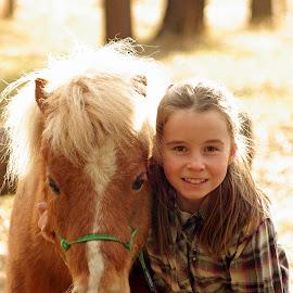 Look alikes by Giselle Pierce - Babies & Children Children Candids ( miniature horse, little girl, friends, girl, horse )
