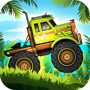Jungle Monster Truck Kids Race Icon