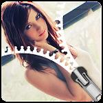 HD Girls Zip lockscreen zipper theme for girls Icon