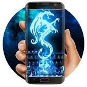 App Blue Dragon Fire Keyboard APK for Kindle
