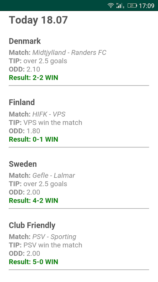VIP Betting Tips Predictions Screenshot 3