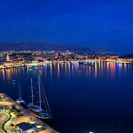 Split at night by Vedrana Vidovic - City,  Street & Park  Night ( croatia, d3200, night, split, nikon, night shot, nightscape )