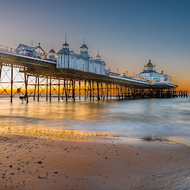 Dawn at Eastbourne Pier UK by Anthony P Morris - Buildings & Architecture Bridges & Suspended Structures ( dawn, eastbournepier, anthony morris, pier, sunrise, sun, eastbourne )
