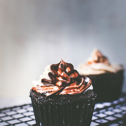 Chocolate Cupcake with Cream Cheese Toasted Coconut Frosting