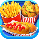 Street Food: Deep Fried Foods Maker Cooking Games