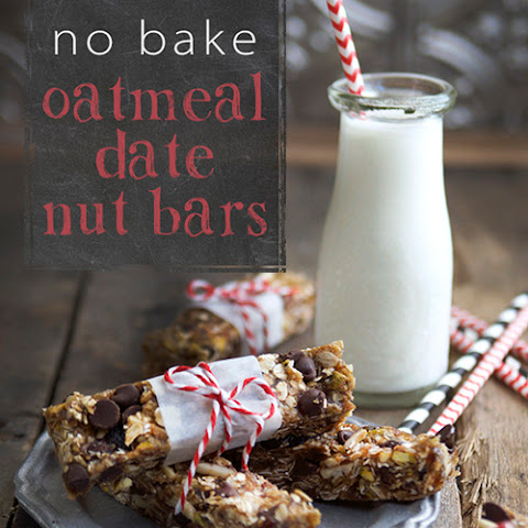No Bake Oatmeal Date Nut Bars